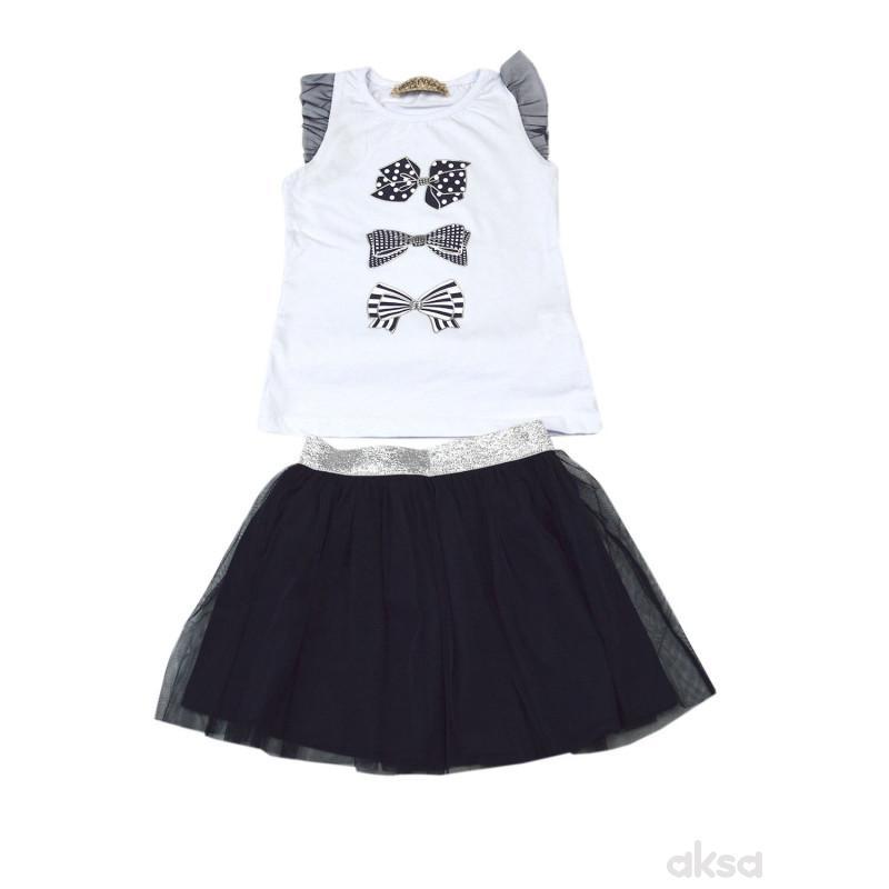 Lillo&Pippo komplet(majica,suknja),devojčice