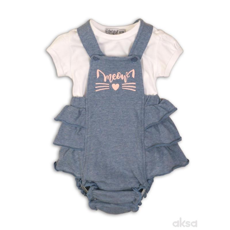 Dirkje komplet (majica kr,gaćice),devojčice