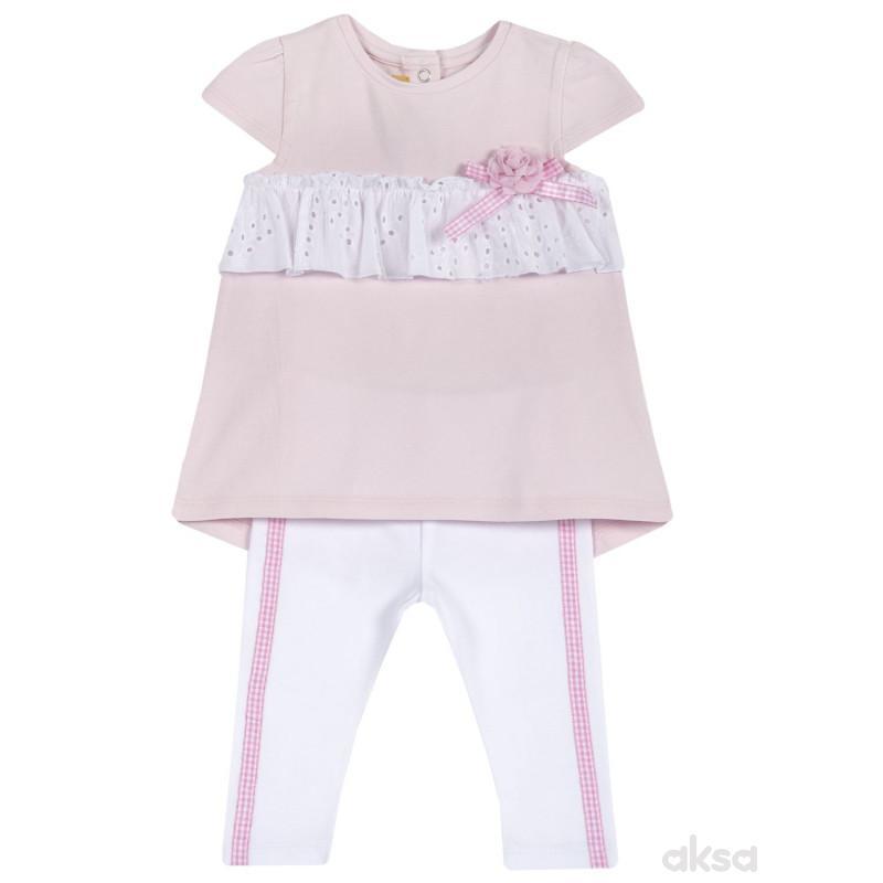 Chicco komplet 2/1 (majica,kr, pant),devojčice