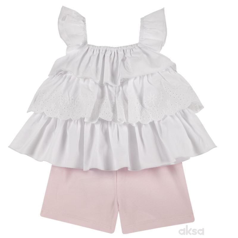 Chicco komplet 2/1 (majica, šorts),devojčice