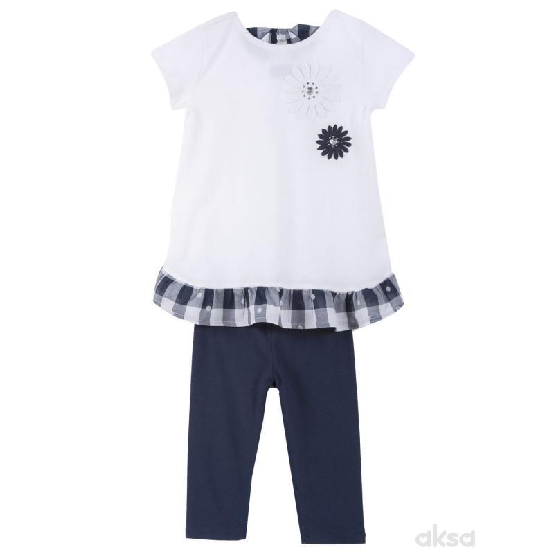 Chicco komplet 2/1 (majica kr, helanke),devojčice