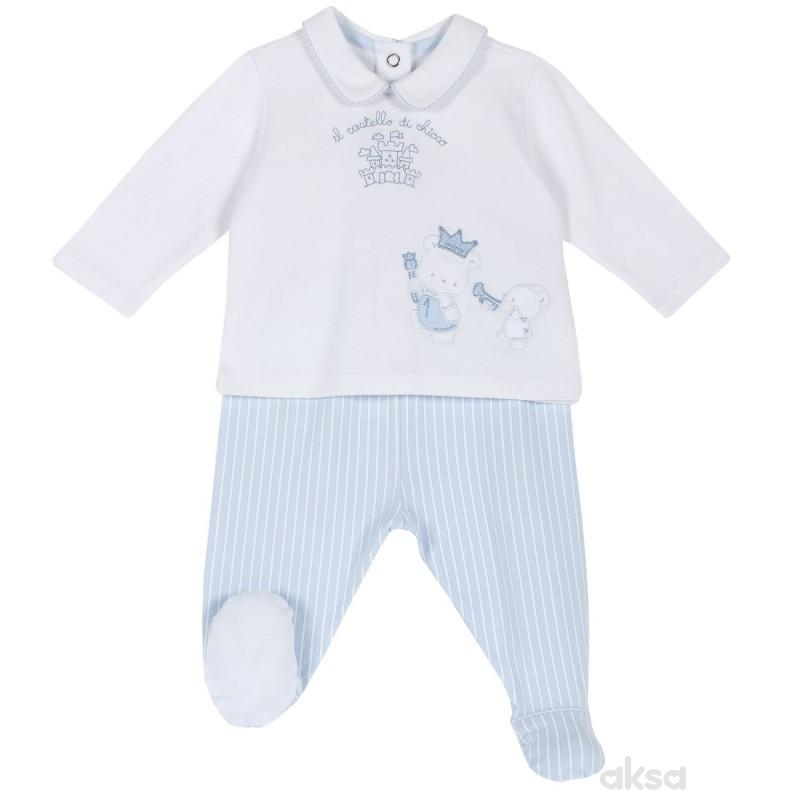 Chicco komplet 2/1 (majica dr, pantalone),dečaci