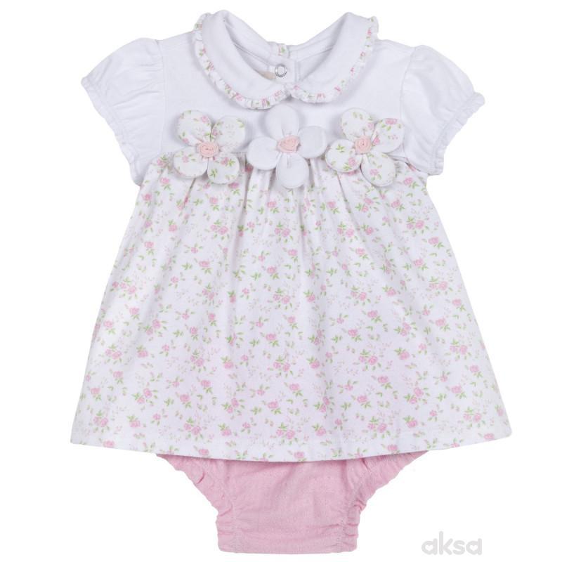 Chicco komplet 2/1 (haljina kr, gaćice),devojčice