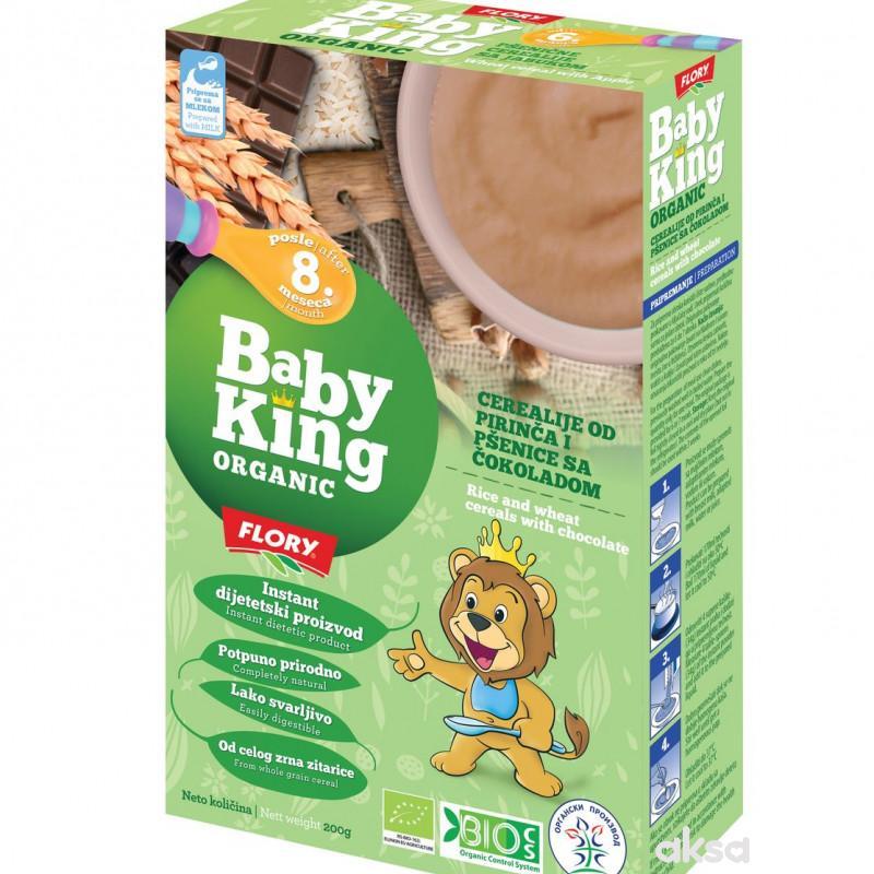Baby king instant kaša pir. pše. čok. organic 200g