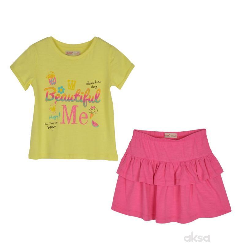 SilverSun komplet (majica,kr i suknja),devojčice