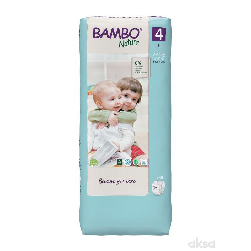 Bambo pelene Nature 4 maxi 7-14kg 48kom