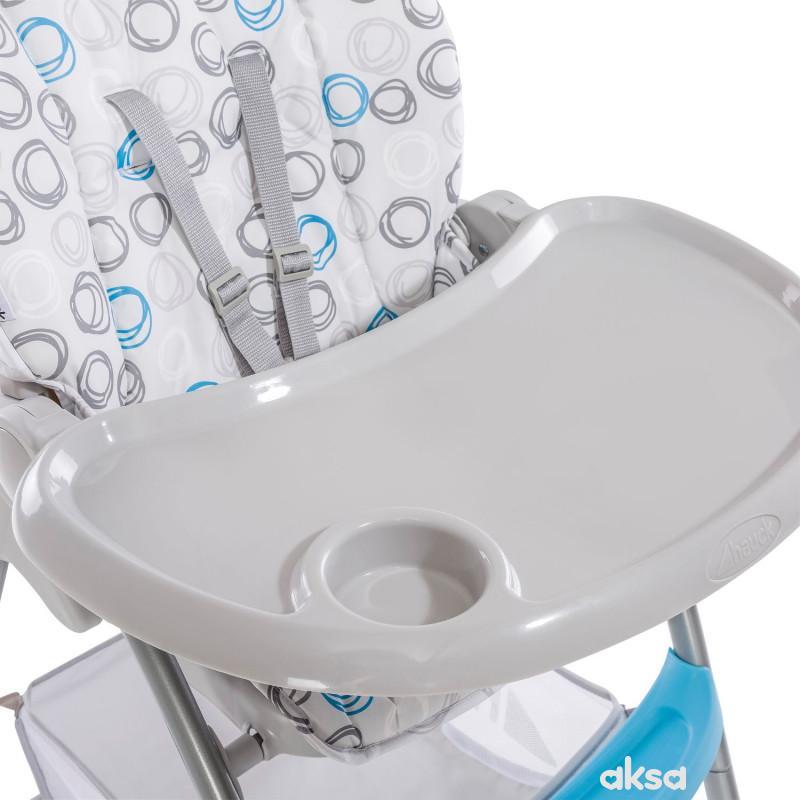 Hauck hranilica Sit n Fold, Circles Blue