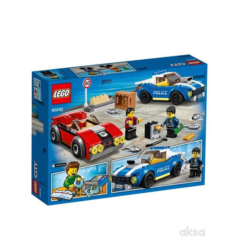 Lego City police highway arrest