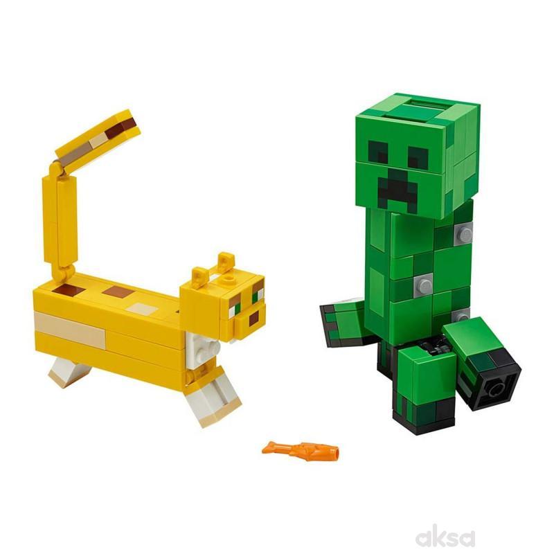 Lego Minecraftbigfig creeper and ocelot