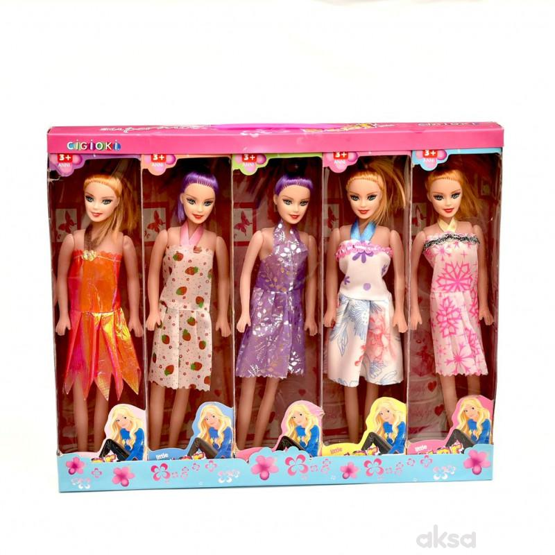 Cigioki lutka set 5/1 u kutiji 36x30cm