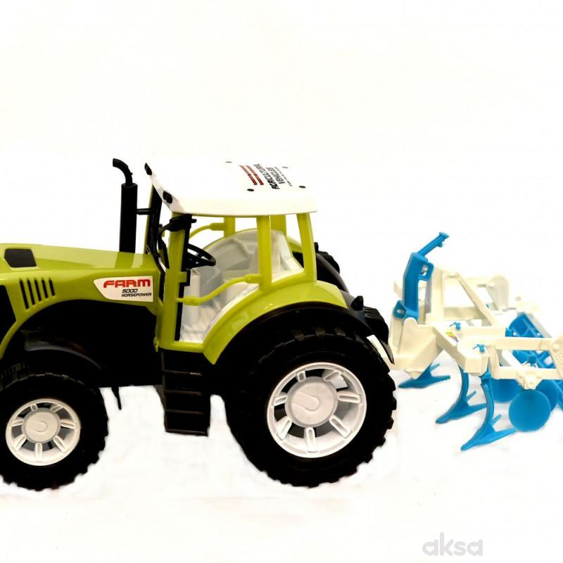Cigioki traktor sa prikljucnom masinom 81x20x22cm