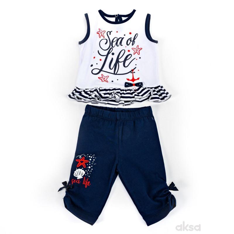 Pom Pom komplet (majica atlet, bermude), devojčice