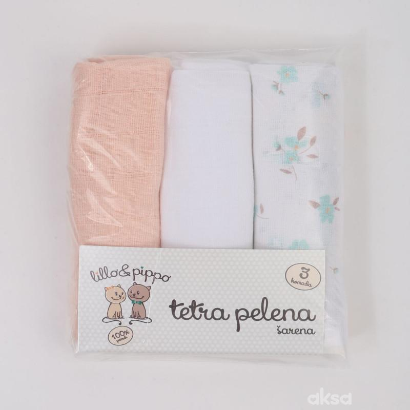 Lillo&Pippo tetra pelena Cvet 3u1