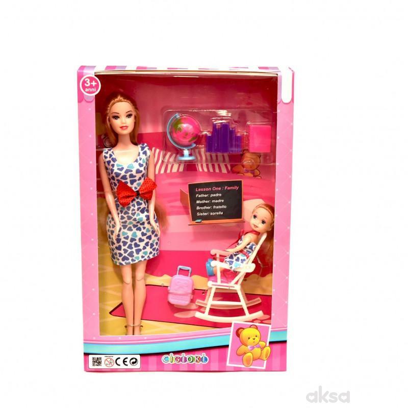 Cigioki lutka uciteljica u kutiji 33cm