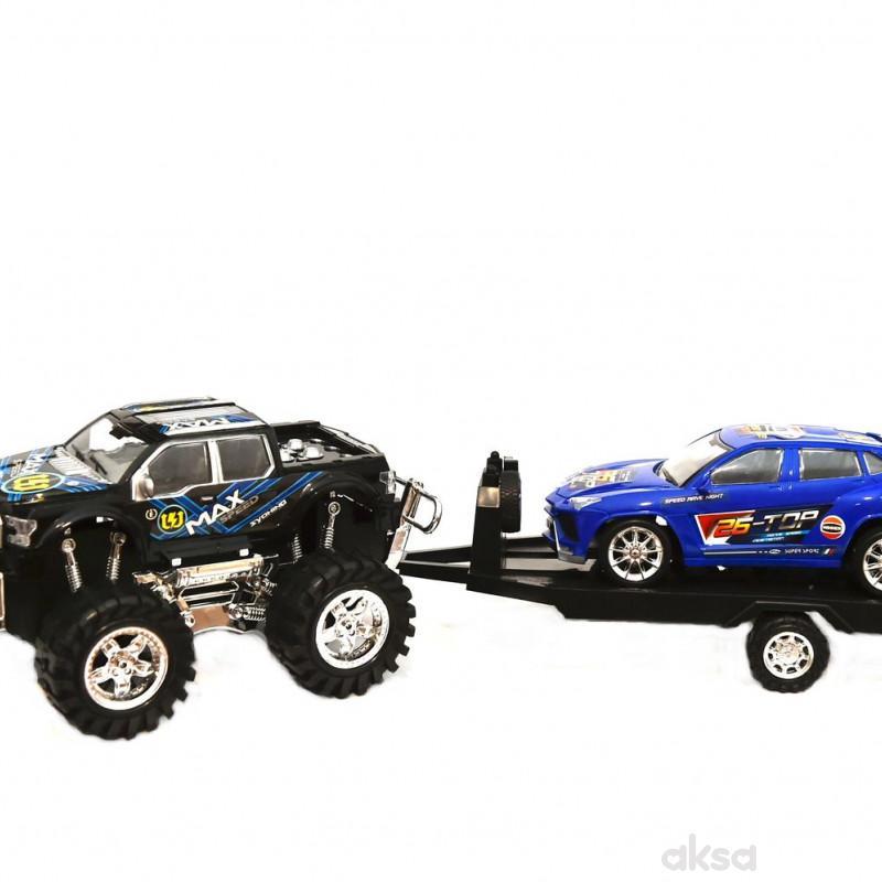 Cigioki auto set 2/1 sa prikolicom 14x59cm