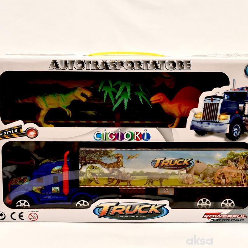 Cigioki kamion set sa zivotinjicama u kutiji