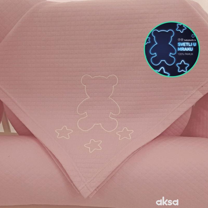 Baby Textil prekrivač Pepito,roze