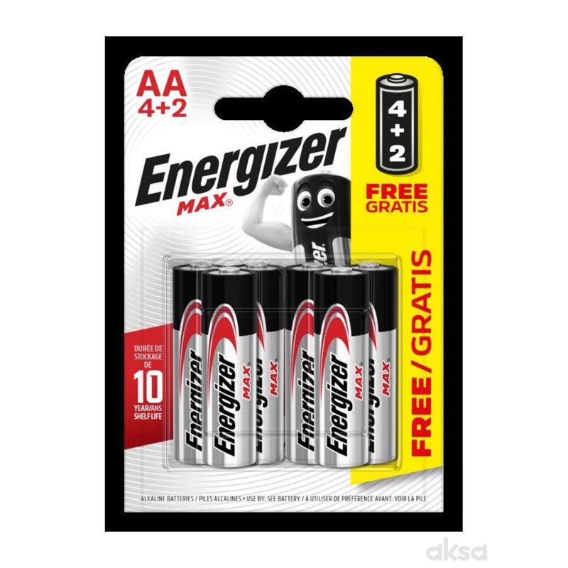 Energizer baterije max AA 6 kom AL