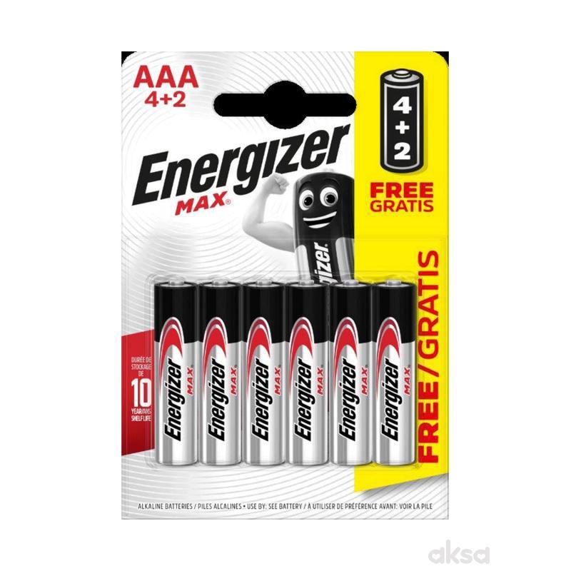 Energizer baterije max AAA 6 kom AL