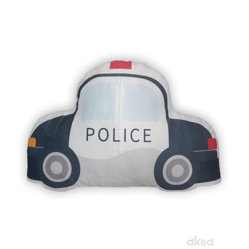 Baby Textil ukrasni jastuk Policijski auto
