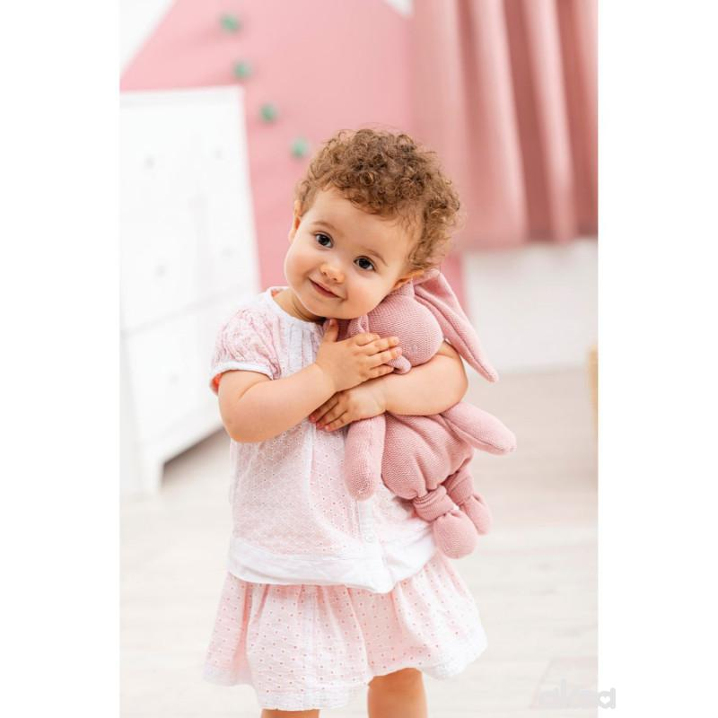 Nattou igračka pleteni zeka, roze