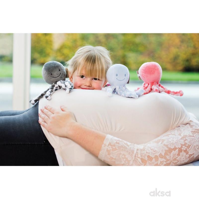 Nattou plišana igračka hobotnica, roze