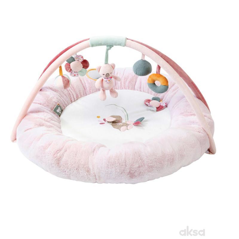 Nattou bebi punjena gimnastika sa igračkama, roze