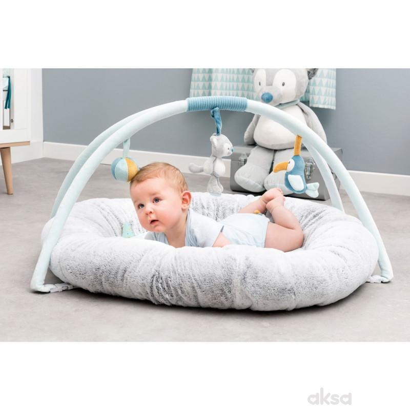Nattou bebi punjena gimnastika sa igračkama, plava