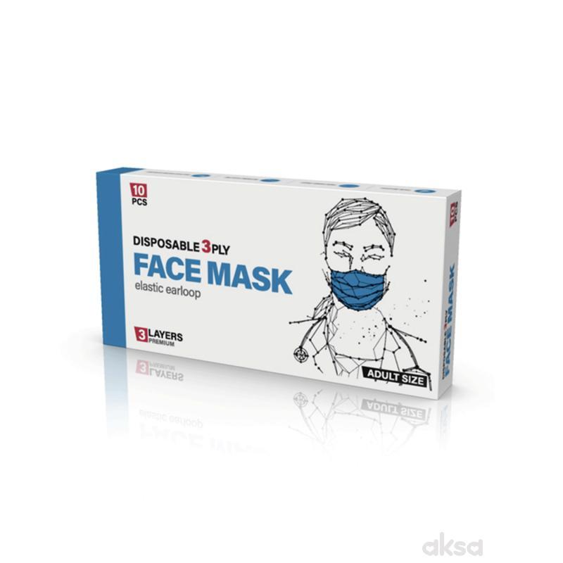 Pro safe face jednokratna maska pakovanje 10/1
