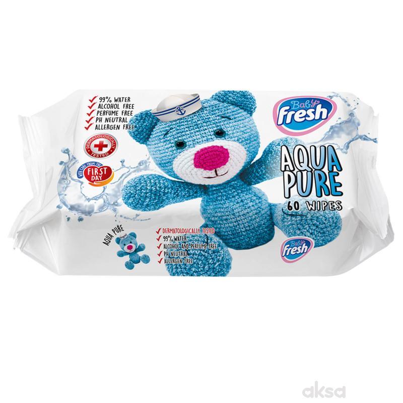 Fresh baby vlažne maramice Aqua Pure 60kom