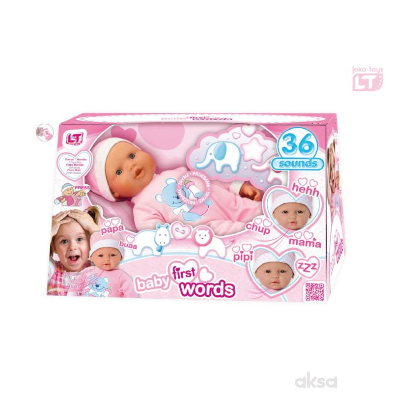 Loko toys, lutka beba koja izgovara prve reči,46cm