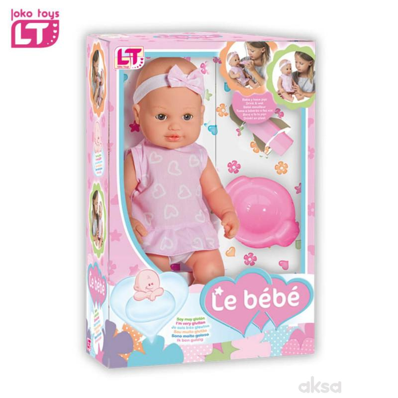 Loko toys, lutka beba koja pije i piški, 40cm