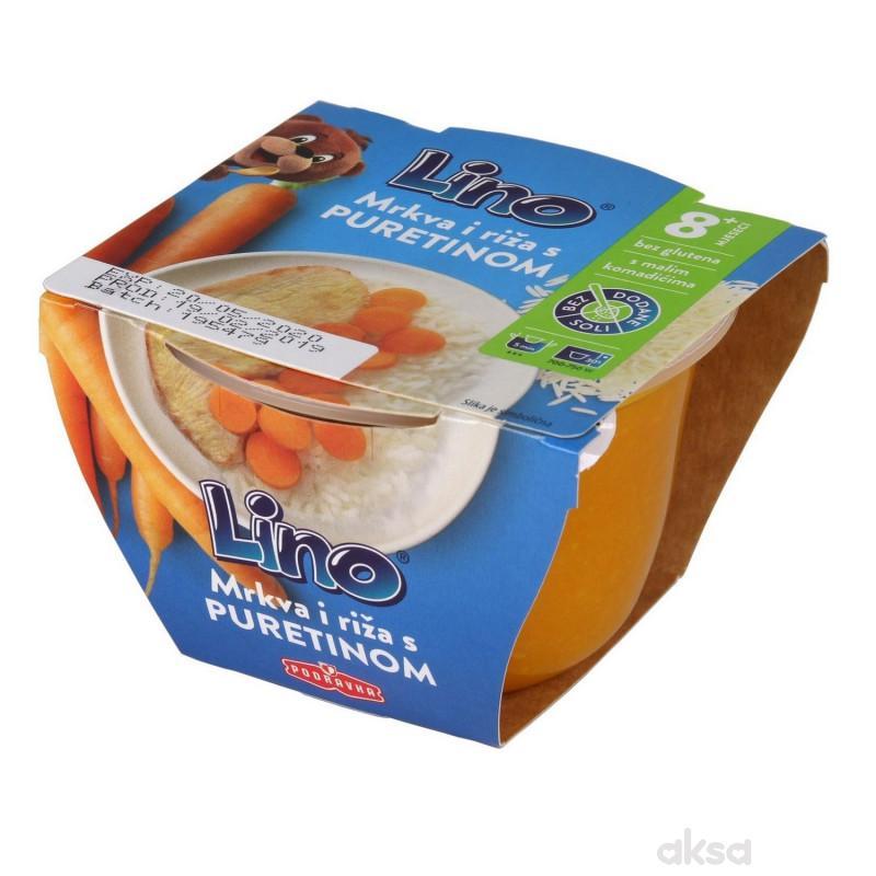 Lino šargarepa i pirinač sa ćuretinom 190g