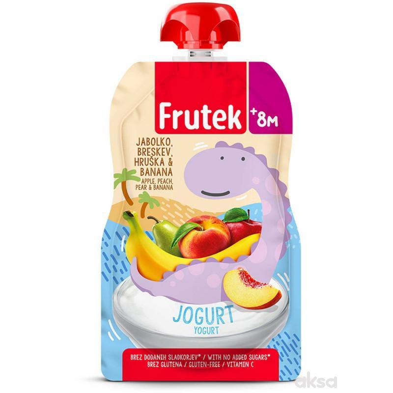 Frutek pouch jab, kruška,ban.,breskva,jogurt 110g