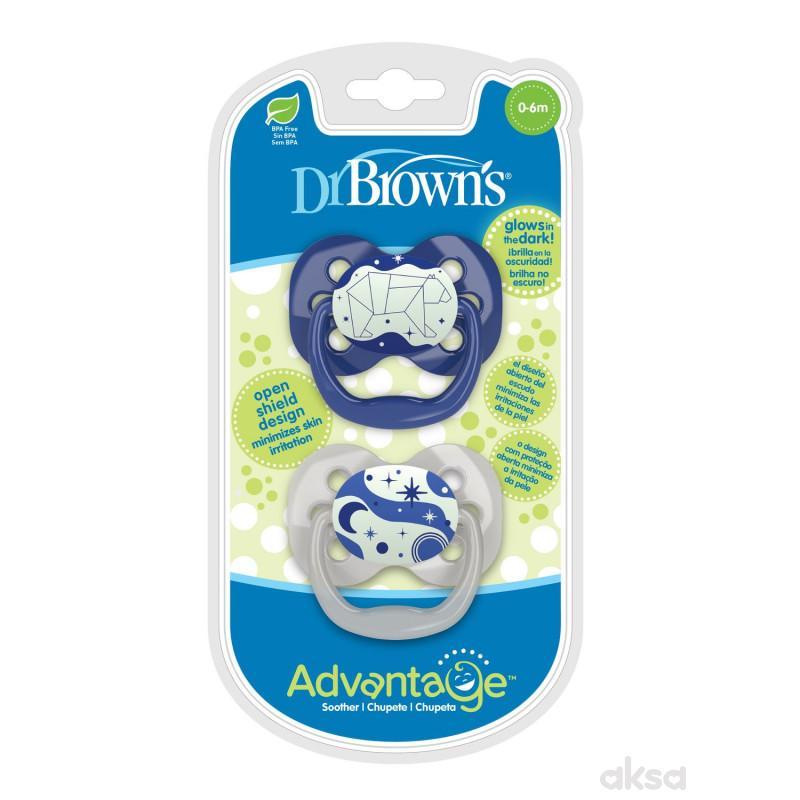 Dr. Browns Advantage svetleća laža 0-6m plava 2/1