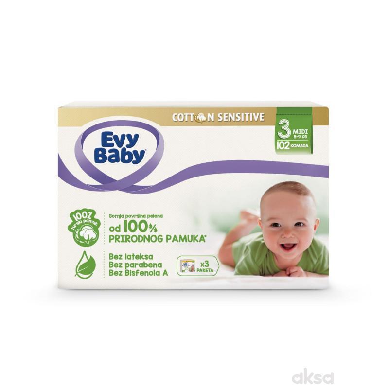 Evybaby Cotton box 3 midi 102 kom
