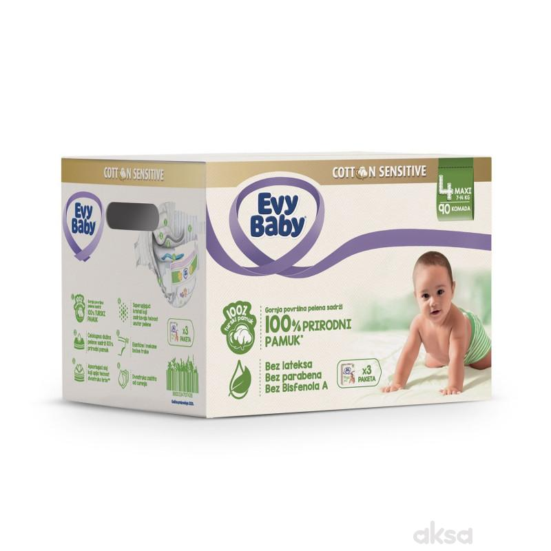 Evybaby Cotton box 4 maxi 90 kom