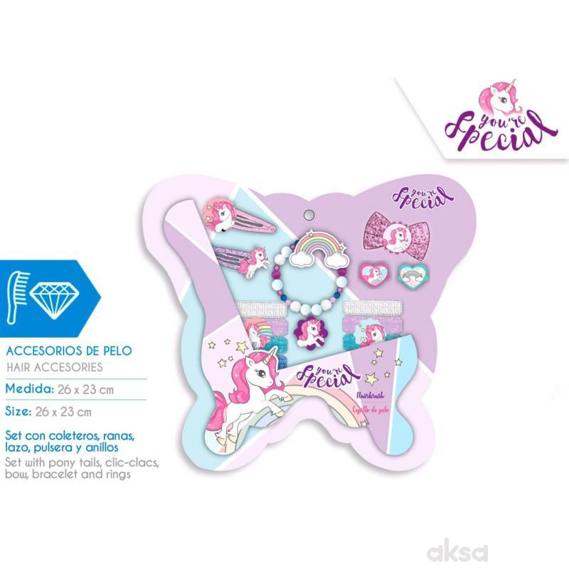 Kids licensing šnalice za kosu Unicorn, 14 kom