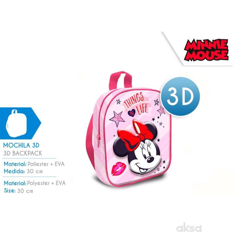 Kids licensing ranac za decu 3D Minnie, 30cm