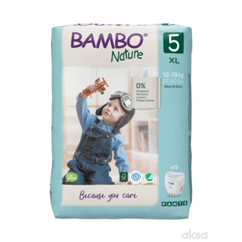 Bambo Nature pants 5 ,12-18kg, 19 kom