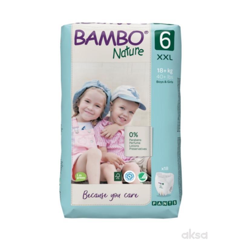 Bambo Nature pants 6 ,18kg+, 18 kom