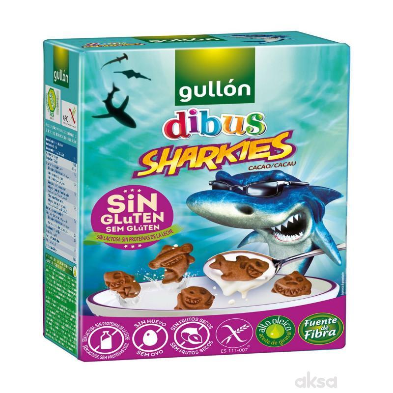 Gullon čokoladni keksići ajkulice bez glutena 200g