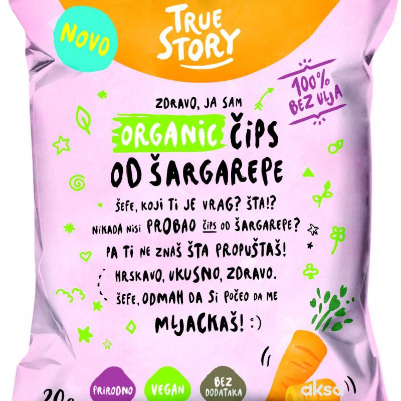 True story organik čips od šargarepe 20g