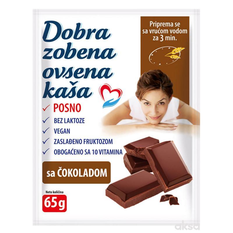 Dobra zobena ovsena kaša čokolada 65g