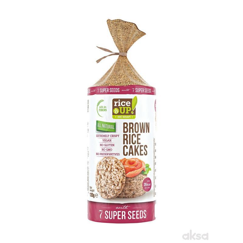 Rice up braon pirinčane galete 7 super semena 120g