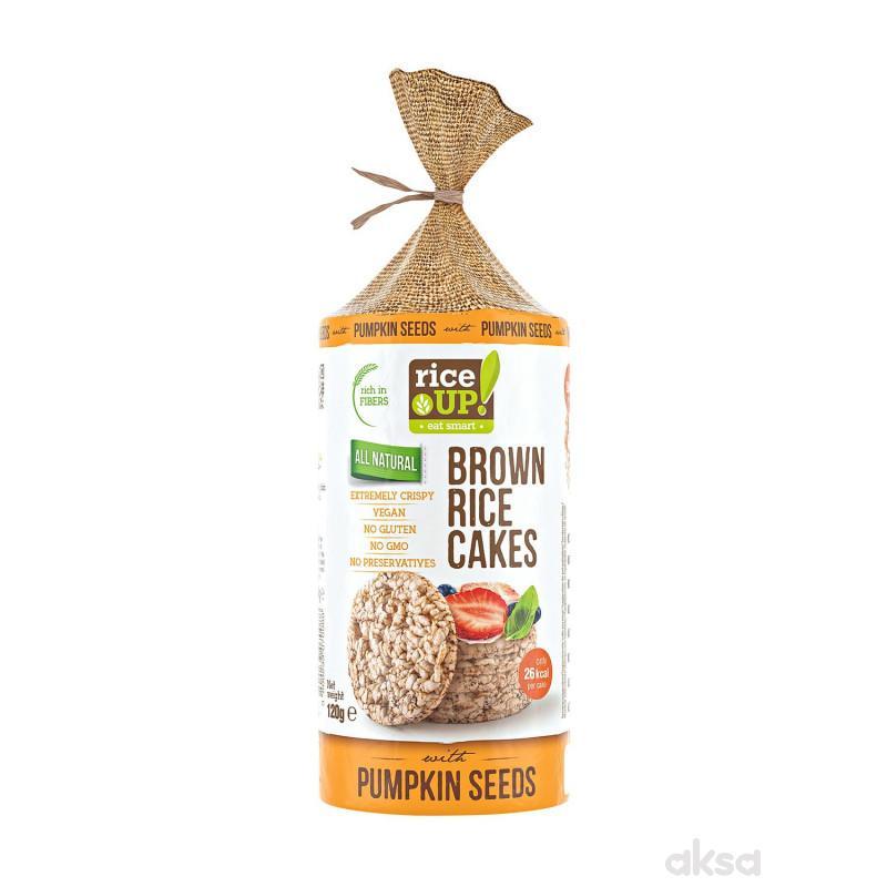 Rice up braon pirinčane galete seme bundeve 120g