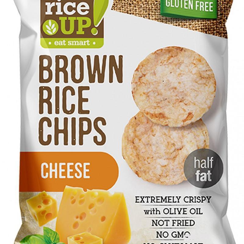 Rice up braon pirinčani čips sir 60g