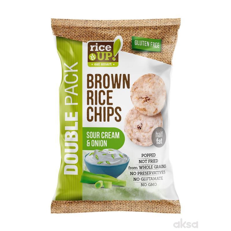 Rice up braon pirinčani čips pavlaka i luk 120g