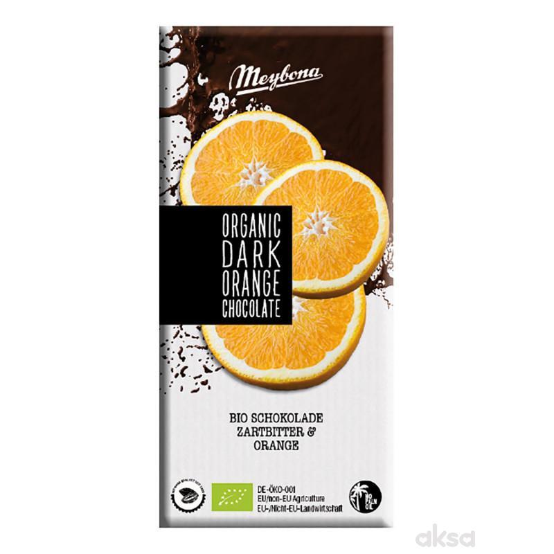 Meybona organska čokol. sa komad.pomorandže 100g