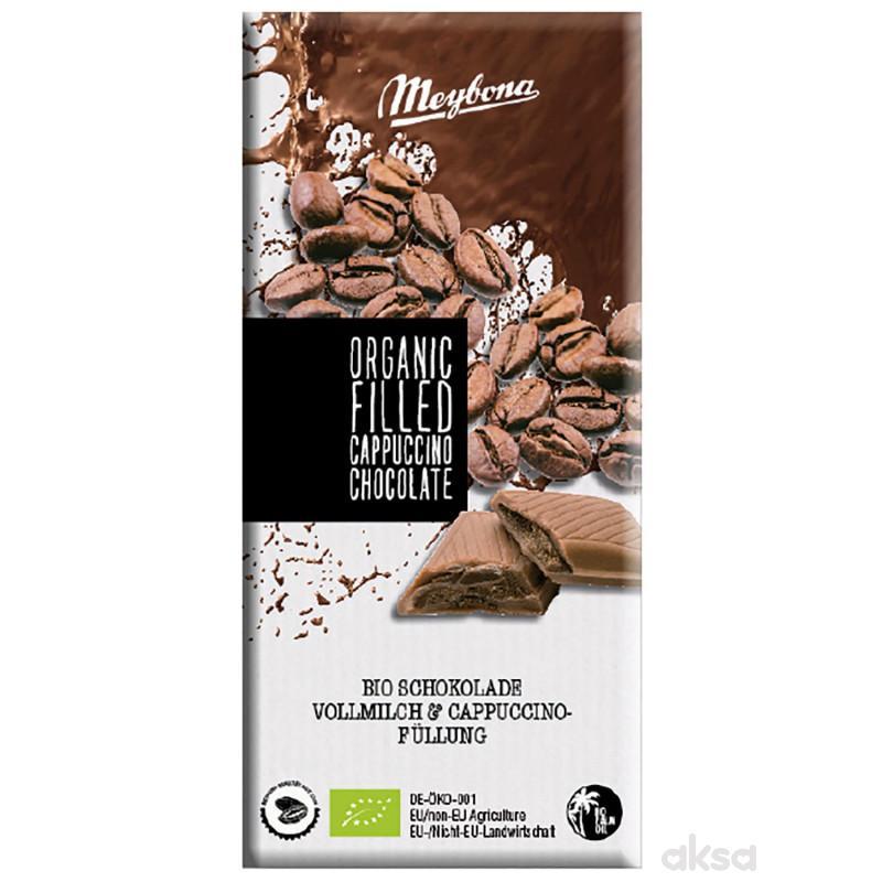 Meybona organska mleč. čokol.kapućino punj. 100g